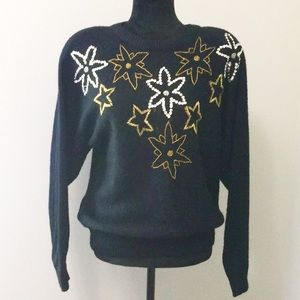 Alfred Dunner Beaded Sweater